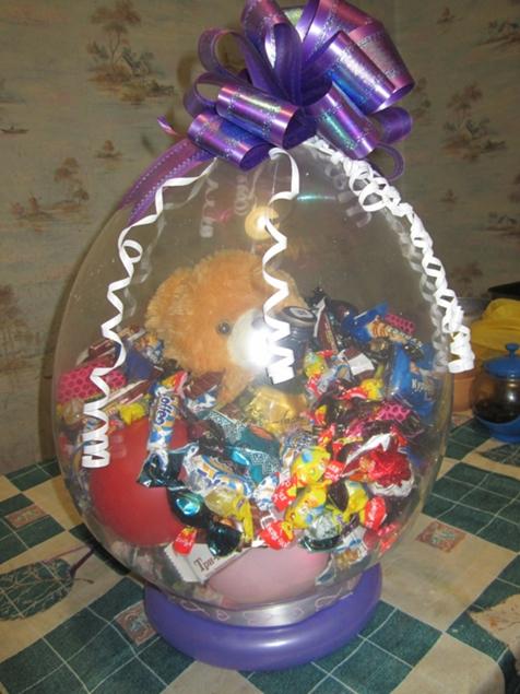 Шарик с конфетами своими руками